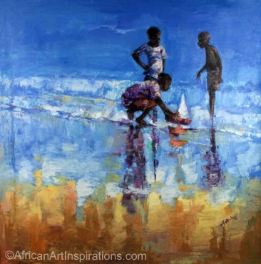 Les enfants et la mer (Children and sea)