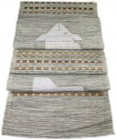 Hand Woven 100 Cotton Table Runner, Grey